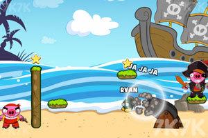 《轰炸海盗猪》游戏画面2