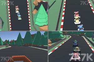 《四人趣味赛车》游戏画面1