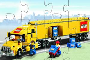 《乐高卡车拼图》游戏画面1