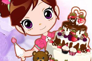 《阿sue做可爱婚礼蛋糕》游戏画面1