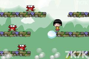 《小丸子抓螃蟹无敌版》游戏画面3