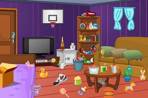 《脏乱客厅找物品》游戏画面1