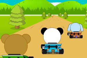 《小动物赛车》游戏画面1