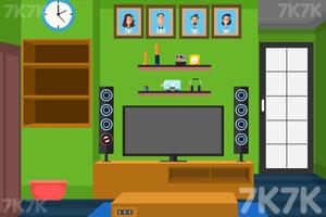 《绿色房间逃出》游戏画面3