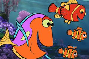 《小丑鱼填色》游戏画面1