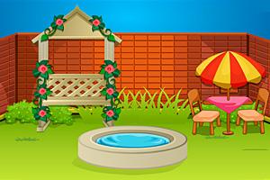 《温馨小花园逃脱》游戏画面1