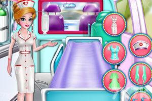 《护士清洁救护车》游戏画面1
