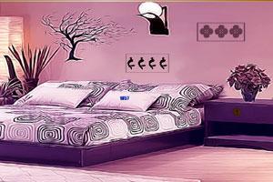 《紫色宽敞客厅逃脱》游戏画面1