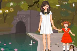 《傍晚散步的母女》游戏画面1