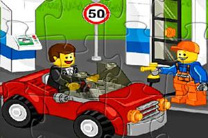 《乐高城市汽车拼图》游戏画面1