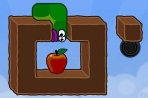贪吃的苹果虫