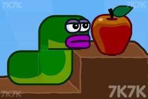《貪吃的蘋果蟲》游戲畫面1
