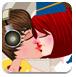 与比伯偷偷接吻