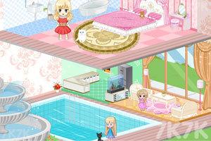 《冰雪公主娃娃屋装饰》游戏画面3