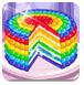 《寶貝制作彩虹蛋糕》在線玩