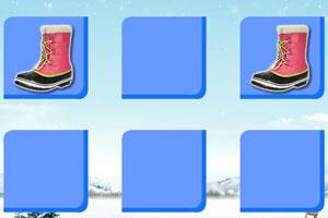 《时尚冬靴记忆翻牌》游戏画面1