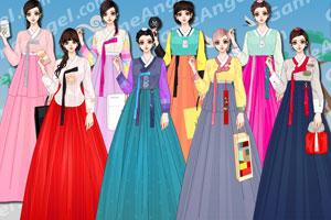 《韩国时尚女式韩服》游戏画面1