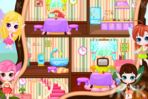 《布置小精灵树屋》游戏画面1