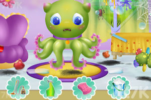《清洁章鱼婴儿房》游戏画面2