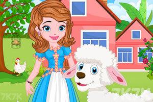 《索菲亚照顾小羊羔》游戏画面1
