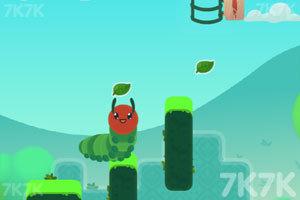 《爱吃叶子的毛毛虫》游戏画面2