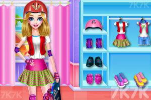 《滑板女孩装扮》游戏画面4