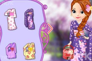 《索菲亚和安伯的和服》游戏画面2