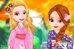 《索菲亚和安伯的和服》游戏画面3