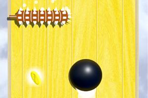 《滚动的黑球》游戏画面1