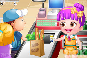 《可爱宝贝当收银员》游戏画面2