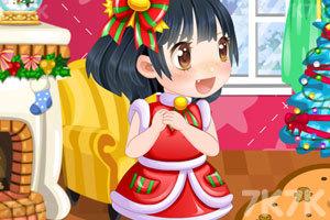 《可爱的女孩过圣诞》截图1