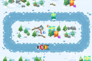 《圣诞爷爷滑雪橇选关版》游戏画面2
