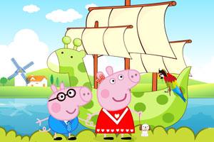 粉红猪的船