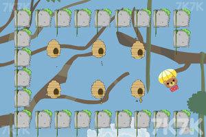 《小熊采蜂蜜》游戏画面2