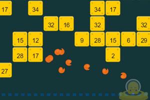 《外星人打数字砖》游戏画面1