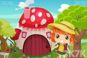 《小女孩逃离花园》游戏画面1