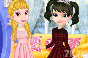 《索菲亚和安伯的休闲装》游戏画面3