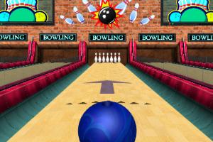 《3D保龄球大赛》游戏画面1