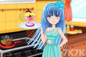 《动漫少女DIY冰淇淋》游戏画面1