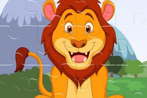 强大的狮子拼图