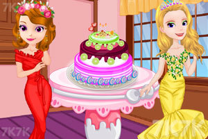 《索菲亚和安伯做蛋糕》游戏画面2
