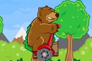 《小熊骑独轮》游戏画面1