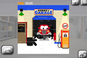 《汽车车库拼图》游戏画面1
