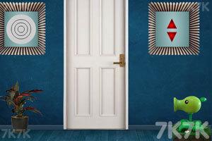 《暗蓝房子逃脱》游戏画面3