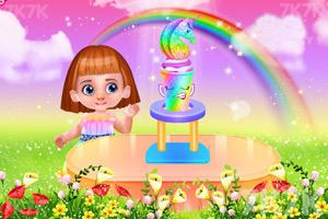 《彩虹獨角獸冰淇淋》截圖2