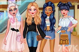 《时尚姐妹出街装》游戏画面1