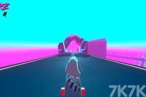 《狸猫日落速滑》游戏画面1