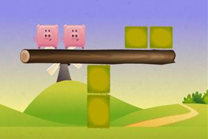 三只粉色小猪