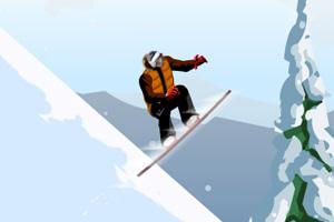 帅哥高山滑雪