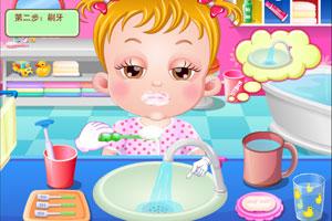 可爱宝贝刷刷牙